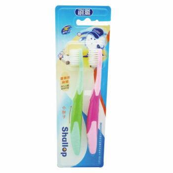 刷樂 小胖子兒童牙刷(纖柔毛) 2支入【德芳保健藥妝】