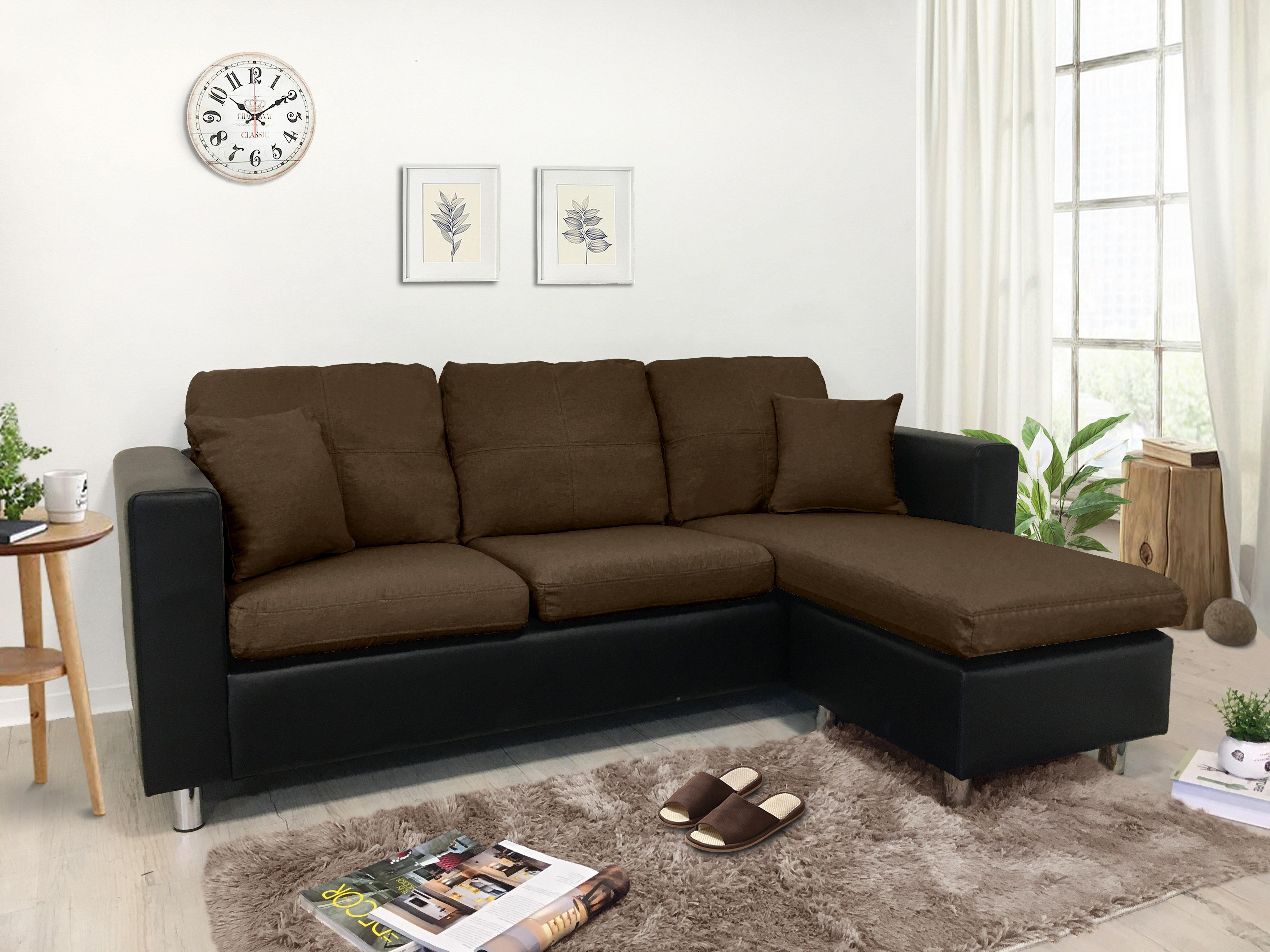 !新生活家具! 咖啡 黑色 布沙發 皮沙發 可拆洗 L型沙發 三人位沙發 腳椅 三色《范特西》非 H&D ikea 宜家 套房