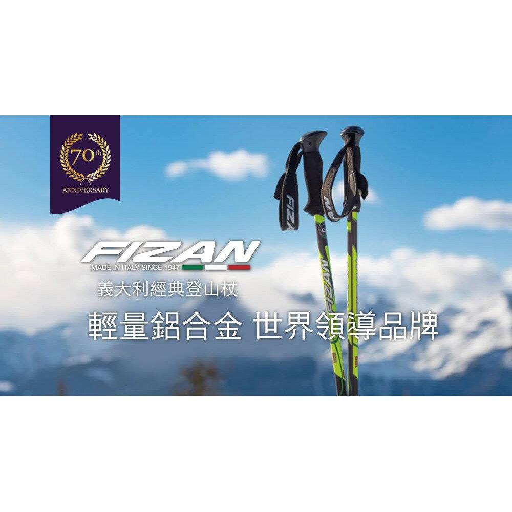 義大利《FIZAN》超輕三節式健行登山杖2入特惠組 (銀杏)