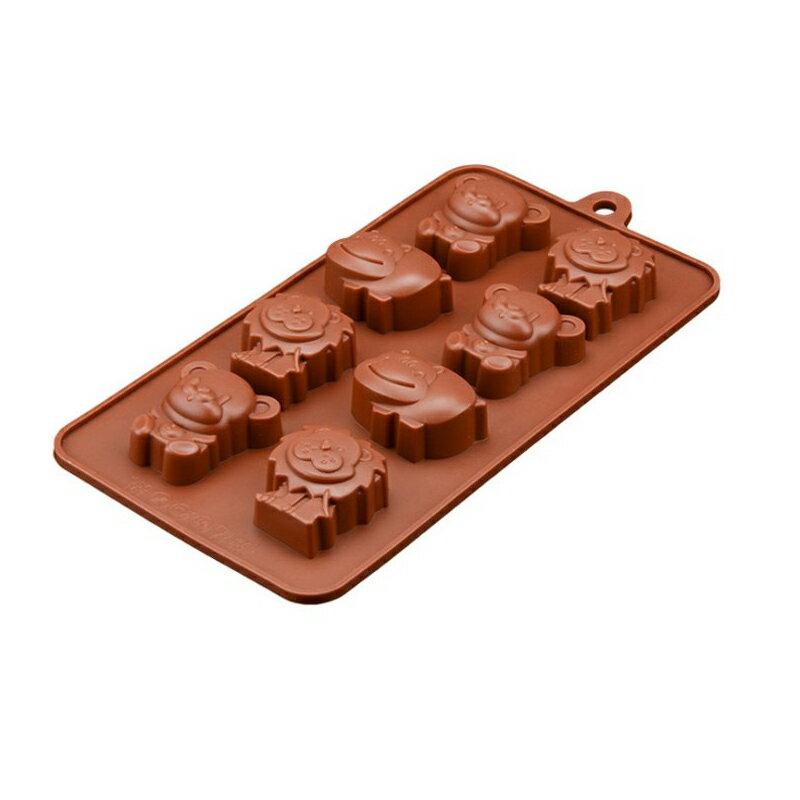 機器人造型12格 餅乾巧克力蛋糕矽膠模具 製冰盒手工皂模具【AF130】《約翰家庭百貨 好窩生活節 1