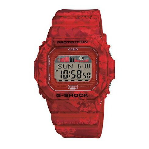 CASIO G-SHOCK GLX-5600F-4質感紅扶桑花腕錶/46*43mm