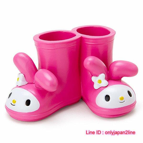【真愛日本】16110800006迷你靴子造型多用途置物架-MM  三麗鷗家族 Melody 美樂蒂  收納架  牙刷架  限量