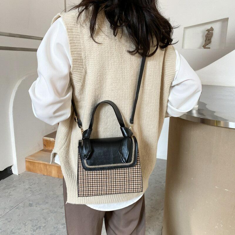 春夏上新女包包包2021新款潮時尚格子小方包質感單肩包ins斜挎包