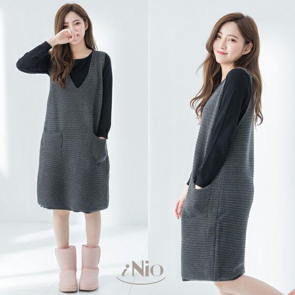針織上衣+毛海吊帶裙背心裙(2色)