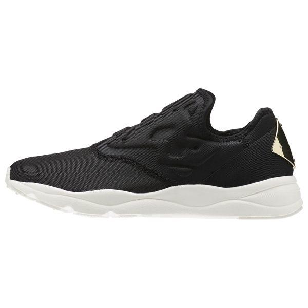 REEBOK FURYLITE SLIP ON LEO 女鞋 慢跑 運動 黑 金 米白 【運動世界】 AR2716