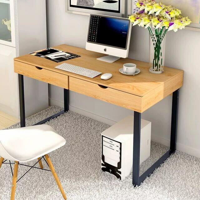 !新生活家具!《吉米》原木色 黑鐵腳 簡約 書桌 電腦桌 工作桌 DIY