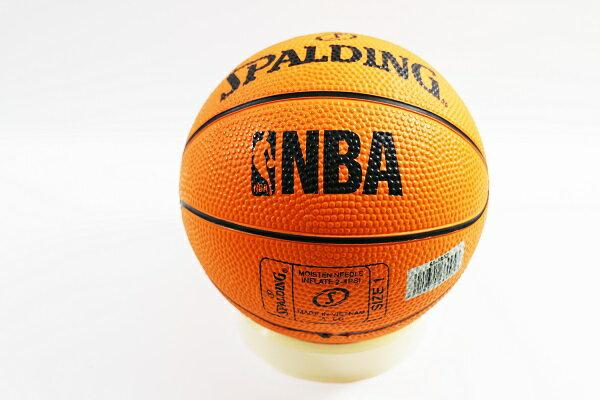 [陽光樂活] SPALDING 斯伯丁 NBA NO.1 迷你小籃球 橡膠 專業橘 #1 SPA66995
