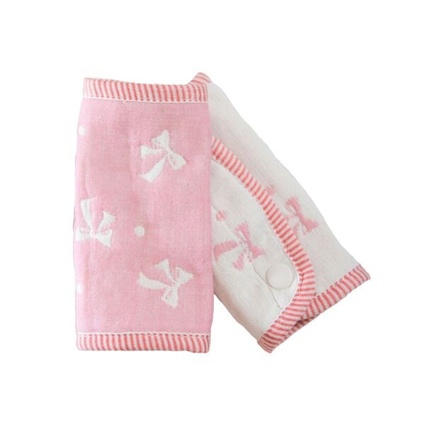 ollobaby瓦吉司 - HiBOU喜福 - 六層紗背巾口水巾 (蝴蝶粉)