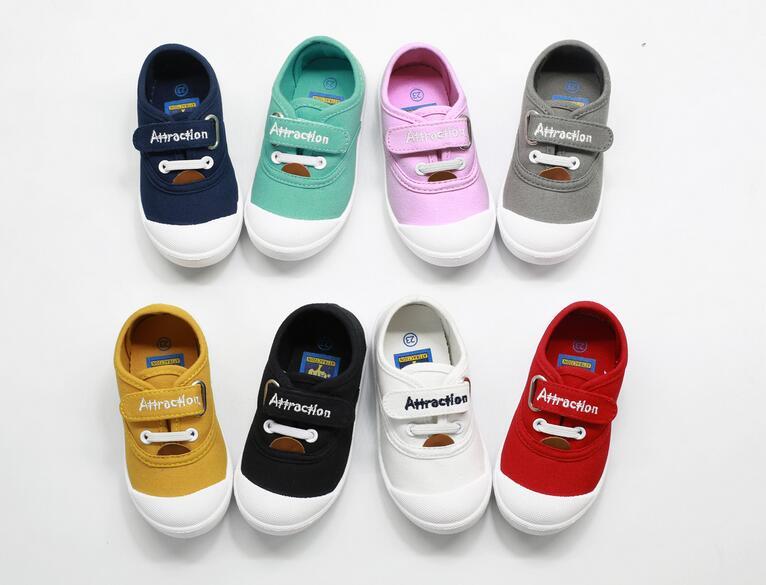 兒童帆布鞋糖果色布鞋
