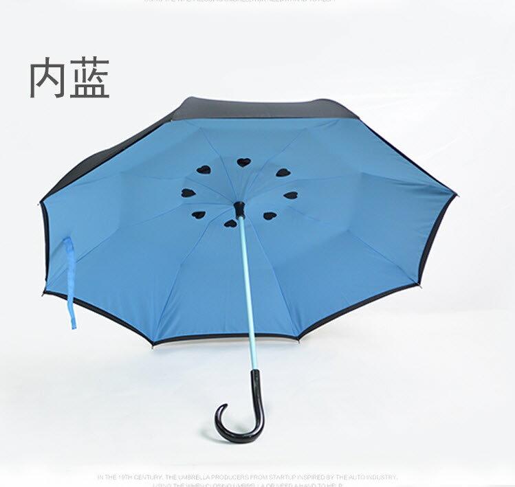 反向傘 4色可選-碳纖結構雙層布防雨防曬外收反轉傘/新型弧面 上收設計 反收傘 5