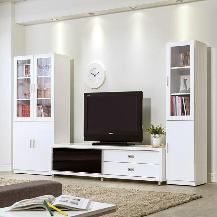 【尚品傢俱】HY-A332-02 艾美白色6尺推門長櫃