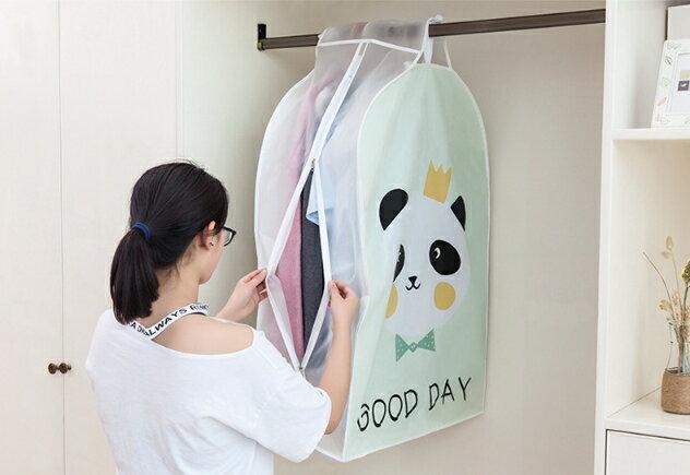 (吉賀) PEVA 立體衣服防塵罩 衣物收納 衣服收納袋 防塵套 衣物罩