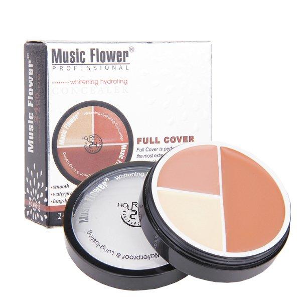MusicFlower三色粉底膏三色遮瑕丙級考試【櫻桃飾品】【20533】