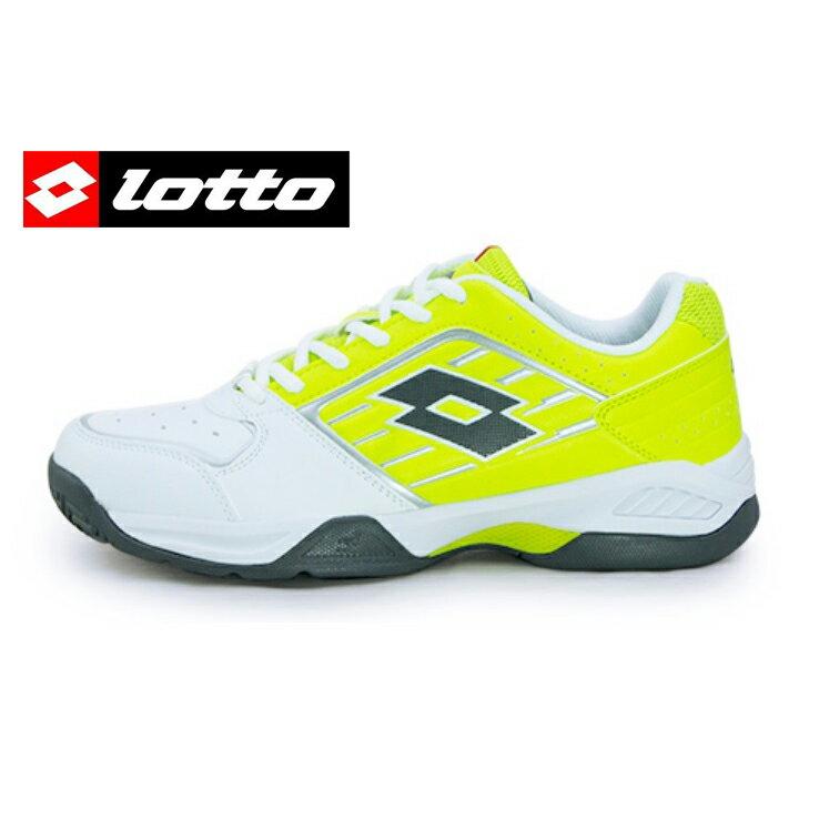 【巷子屋】義大利第一品牌-LOTTO樂得 男款T-TOUR IIV 全地形網球鞋 [3374] 白黃 超值價$1112免運