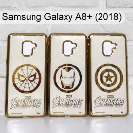 漫威 復仇者電鍍軟殼 Samsung Galaxy A8+ (2018) 6吋 蜘蛛人 鋼鐵人 美國隊長【Marvel 正版】