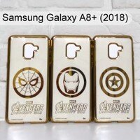 Marvel 手機殼與吊飾推薦到漫威 復仇者電鍍軟殼 Samsung Galaxy A8+ (2018) 6吋 蜘蛛人 鋼鐵人 美國隊長【Marvel 正版】就在利奇通訊推薦Marvel 手機殼與吊飾