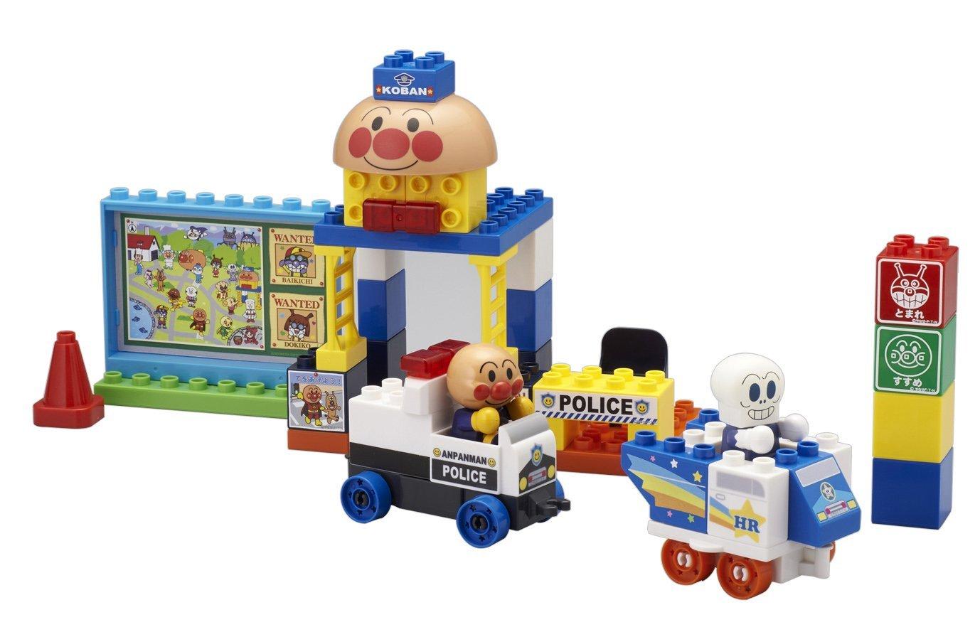 麵包超人ANPANMAN 警察抓小偷2人形積木玩具 ,迷你積木/多元創意積木/玩具/建構棒/樂高積木,X射線【C020707】