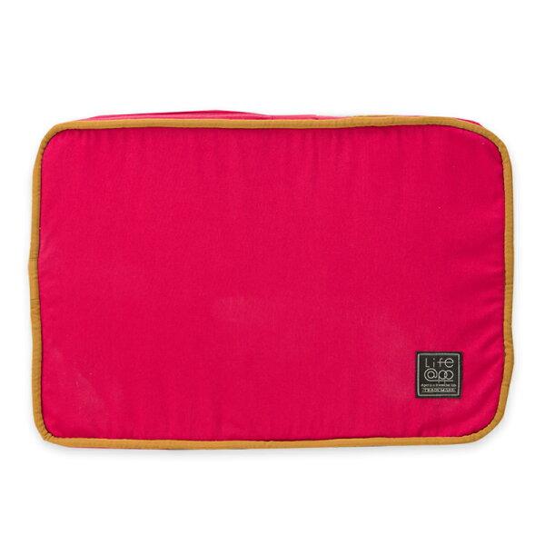 Lifeapp:《Lifeapp》睡墊替換布套S_W65xD45xH5cm(紅藍)不含睡墊