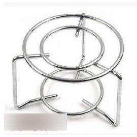 【不銹鋼圓架-直徑13.5*高11cm-2個 組】 摩卡壺虹吸壺 加熱器具 瓦斯爐架子 於底部直徑8cm以上的摩卡壺-7501008