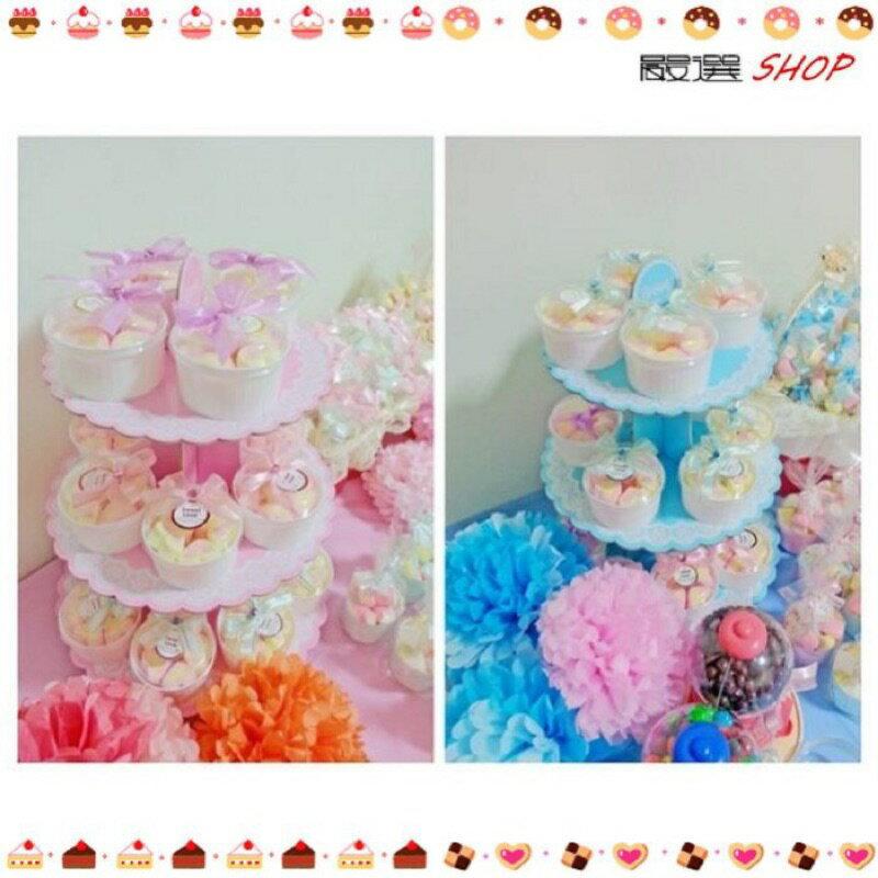 【嚴選SHOP】蛋糕座 婚禮小物 派對 慶生 三層蛋糕喜糖座 精緻小物DIY 下午茶 蛋糕座蛋糕架【K066】