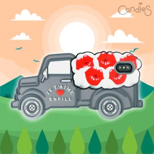 FENICE:【Candies】立體繽紛卡車手機殼(Lips)-IPhoneX