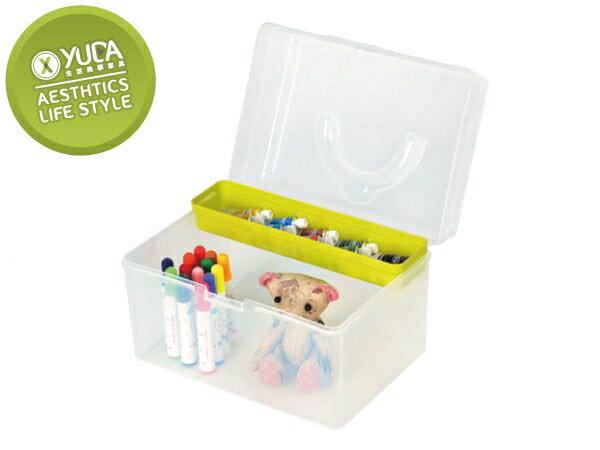 樹德櫃 【YUDA】TB-702 收納盒   文具盒   手提箱   玩具盒(四色 配送)