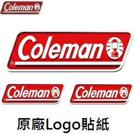 [Coleman]原廠Logo貼紙3Pcs紅公司貨CM-0524