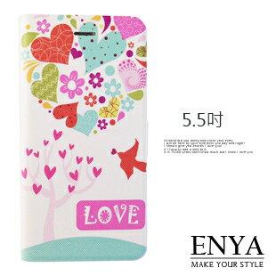 iPhone6+/6S+ Plus 5.5吋 現貨 愛戀森林 彩繪皮套 (郵局免運) Enya恩雅