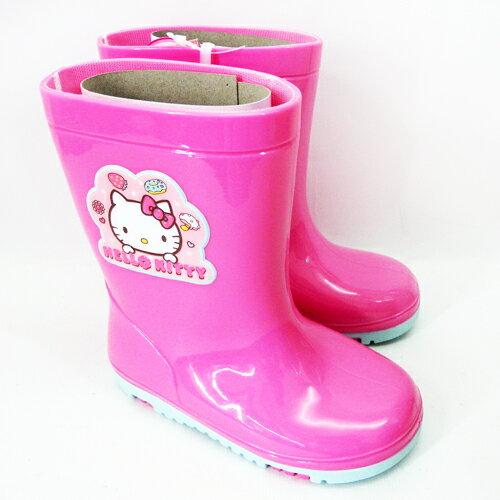【真愛日本】童雨鞋715941-桃紅15-21 三麗鷗 Hello Kitty 凱蒂貓 童鞋 雨具 正品