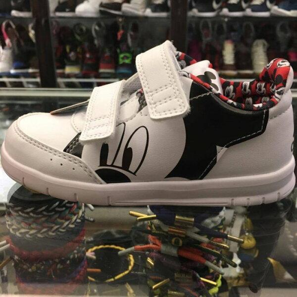BEETLE PLUS:童鞋BEETLEADIDASDISNEYMICKEYCFI米奇魔鬼氈白黒紅BY26431415CM