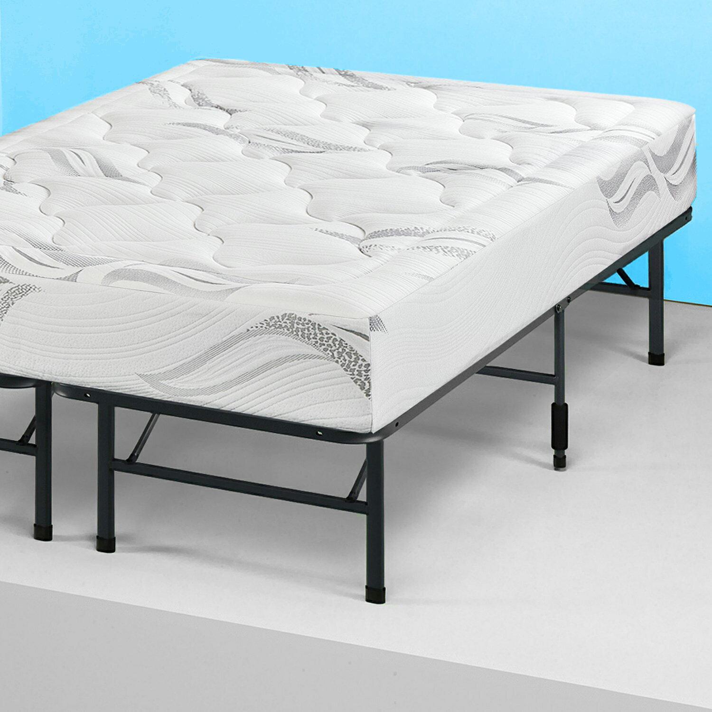 new concept 66021 59c05 Queen Modern Bi-Fold Folding Platform Metal Bed Frame Mattress Foundation
