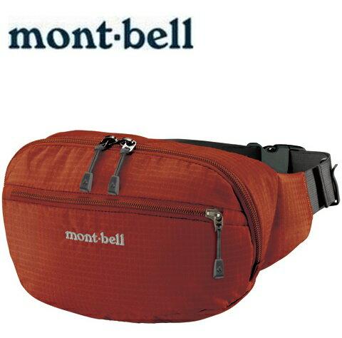 Mont-Bell 休閒腰包/旅行腰包 Delta gusset pouch L 1123765 TERA磚橘