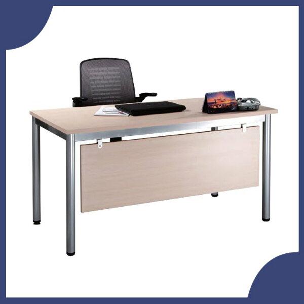 『商款熱銷款』【辦公家具】TSB-140白橡木烤銀長方形辦公桌辦公桌書桌桌子