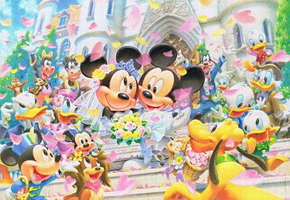 【進口拼圖】迪士尼 DISNEY-米奇米妮婚禮 108片 D-108-994