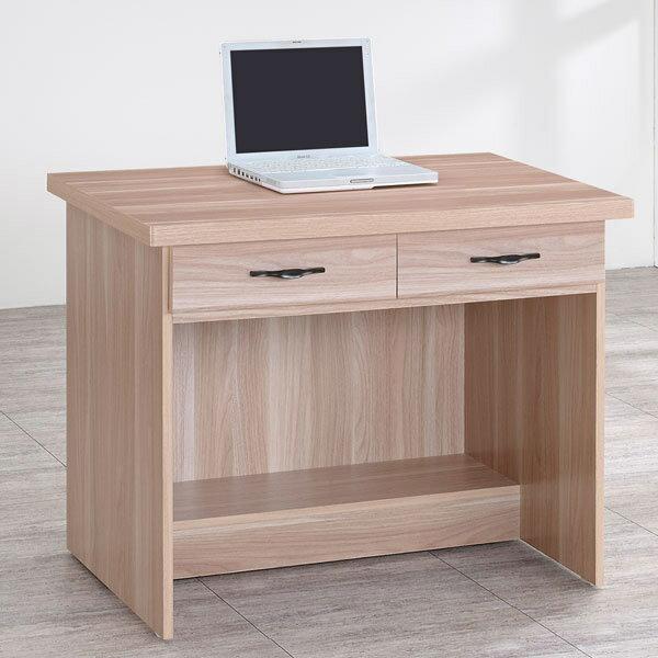 電腦桌 書桌 工作桌 辦公桌 學生書桌《YoStyle》雪琪3尺二抽書桌-原木色