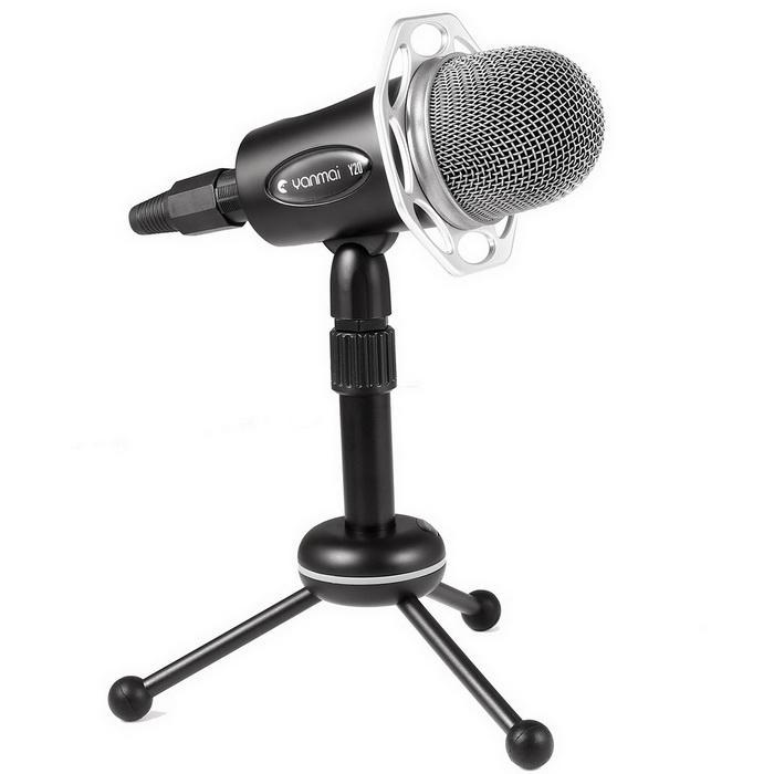 Condenser Microphone With Tripod Stand for PC Laptop Computers Sound Studio Podcast Recording 2
