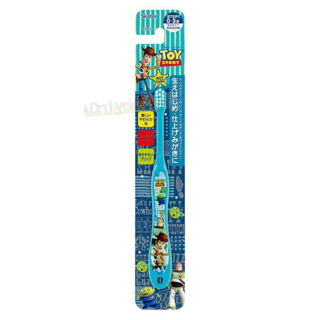 【真愛日本】4973307452673 幼兒牙刷0~3歲-玩總藍綠 玩具總動員 toys 迪士尼 幼兒牙刷 牙刷 盥洗用品 1
