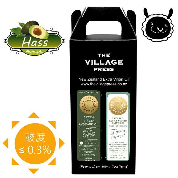 壽滿趣:【壽滿趣-紐西蘭廚神系列】頂級冷壓初榨黃金酪梨油托斯卡尼風味橄欖油(250ml兩瓶禮盒裝)