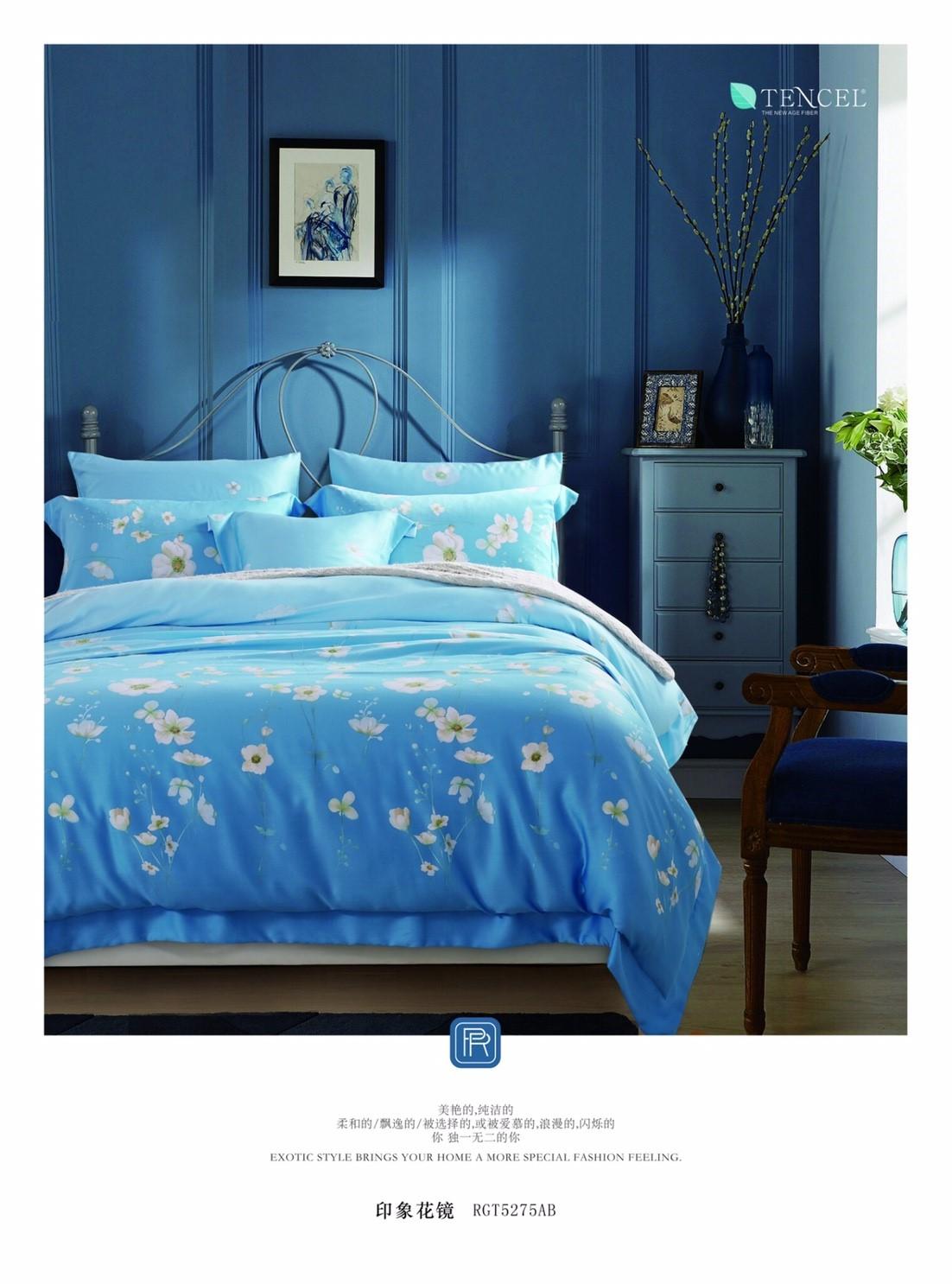全台破盤價~嫁妝寢具~專櫃TENCEL 100^%天絲床包鋪棉兩用被套四件組. 加大