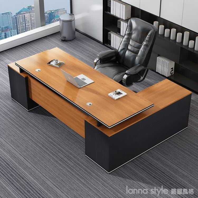 辦公桌子辦公室商用簡約現代主管大班台總裁經理單人老板桌椅組合