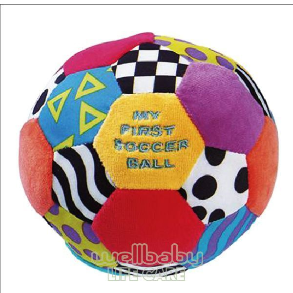 ~衛立兒 館~Playgro 小足球布質玩具^#7830