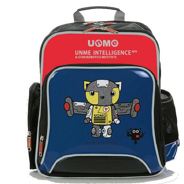 X射線 精緻禮品:X射線【C3260N】UnMe機器人書包(深藍)3260台灣製造,開學必備護脊書包書包後背包背包便當盒袋書包雨衣補習袋輕量書包拉桿書包