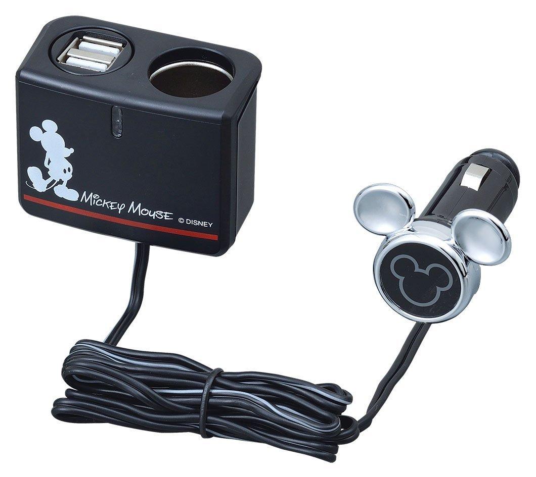X射線【C400438】米奇Mickey 車用延長USB充電器插座,充電器/車用充電器/3C/USB車充/手機車充