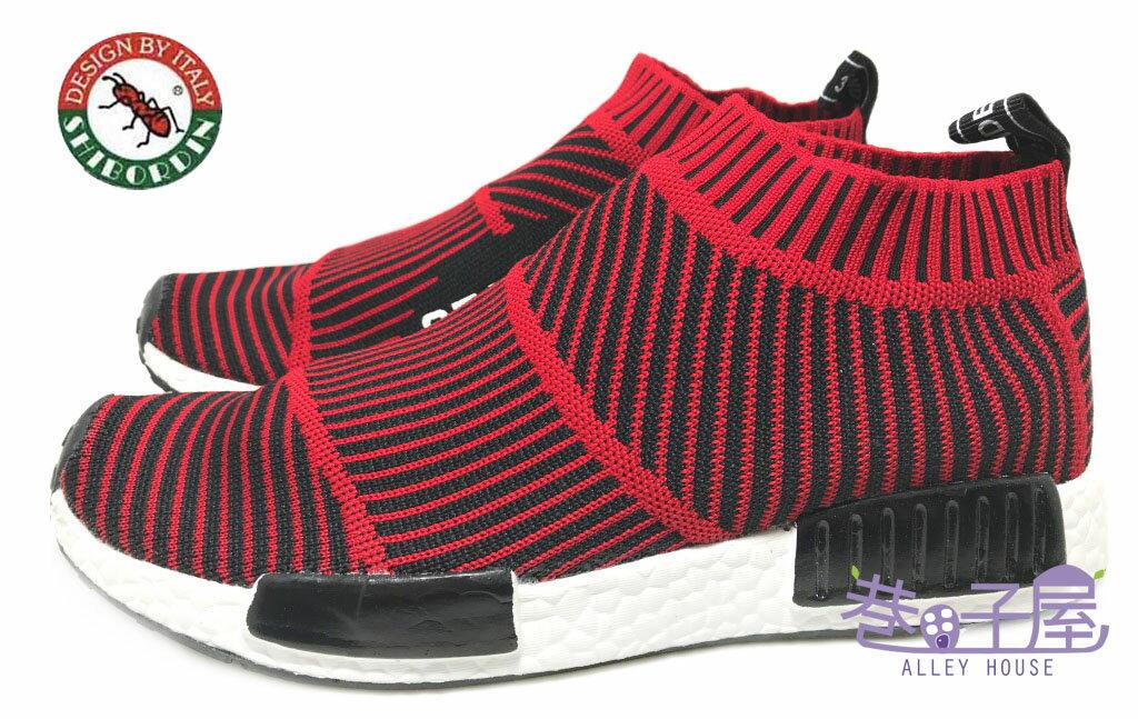 【巷子屋】喜伯登 紅螞蟻 男款編織襪套運動鞋 襪子鞋 [1612-7] 紅 超值價$498