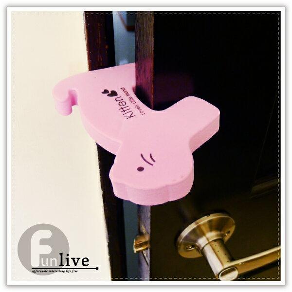【aife life】動物造型門擋-厚款/幼兒家居安全用品/安全防夾門檔/U型門檔/貓咪造型海綿門檔/寵物門檔