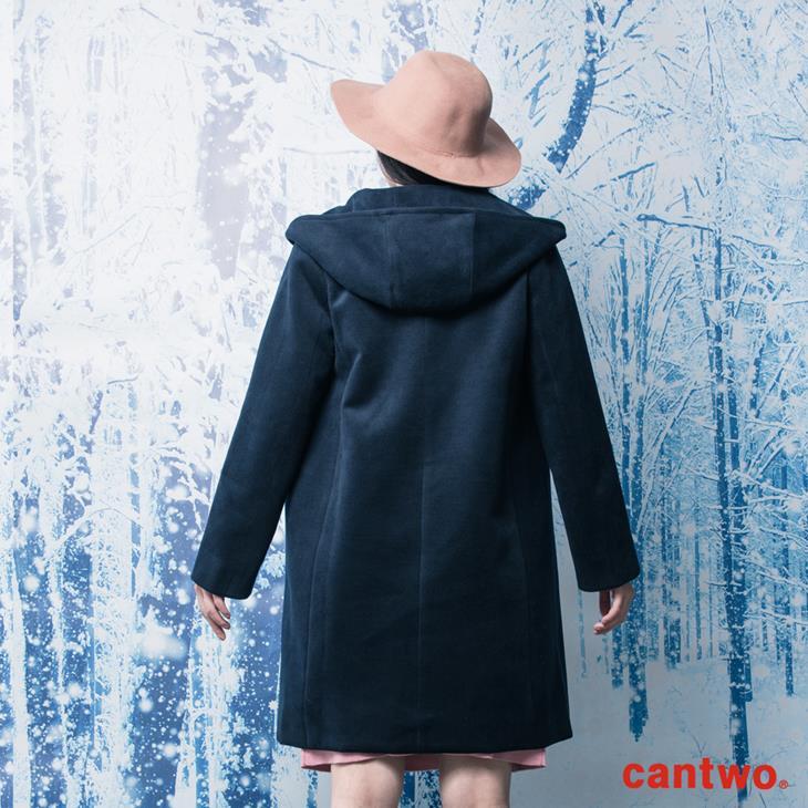 cantwo俐落H線條連帽大衣(共二色) 2