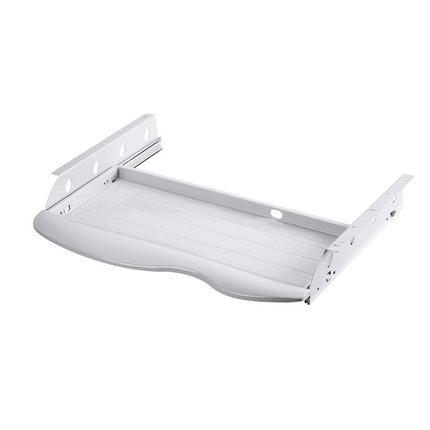 桌下抽屜 加裝電腦臺式桌抽屜軌道推拉鍵盤托架懶人金屬鋼制二節