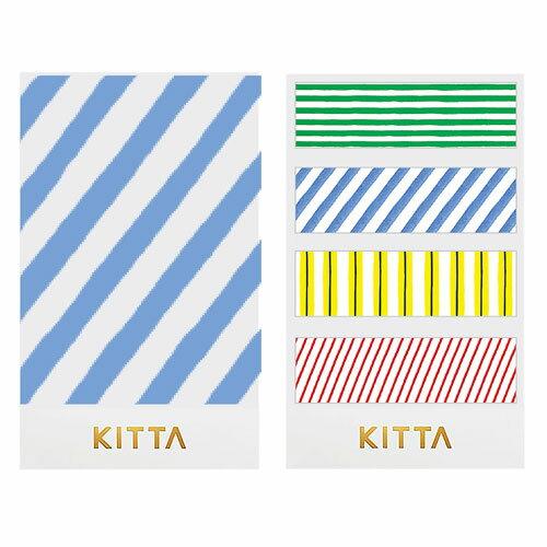 【日本KITTA】隨身攜帶和紙膠帶KIT032條紋款3本