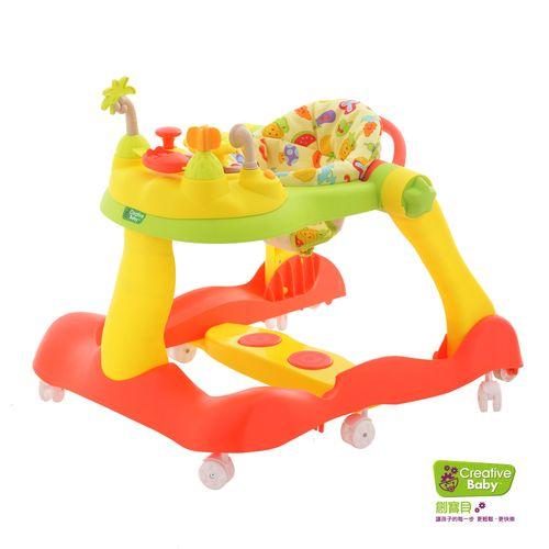 ★衛立兒生活館★Creative Baby 創寶貝 糖果版-多功能三合一音樂折疊式學步車/助步車