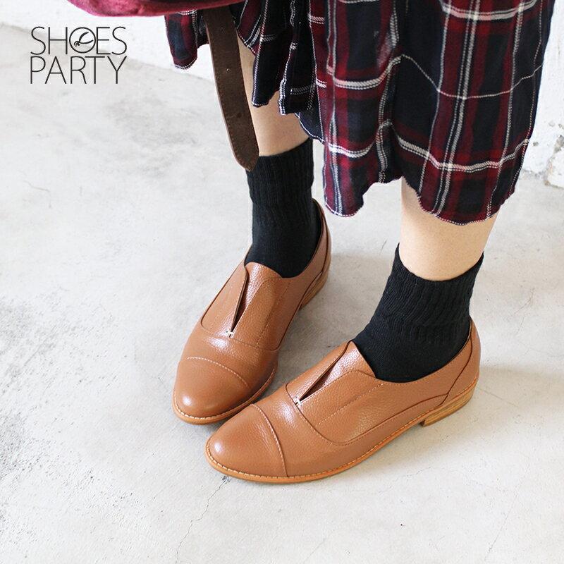 【C2-18740L】簡約真皮復古紳士鞋_Shoes Party 2